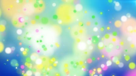 白い場所をはねて明るい青の背景にカラフルな粒子のエキサイティングな 3 d レンダリング。図面を冗談と陽気な気分の奨励します。