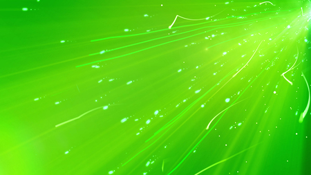 3d rendering of a aggressive plazmoid looking particles flying through the glittering cyberspace with numerous dots and spots, blemishes, with curvy trails shot diagonally in the light green