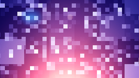 An optimistic 3d illustration of small shining blue and white squares in the black background. They compose some funny labyrinths lit from inside festively. It looks like illumination. Stock Photo