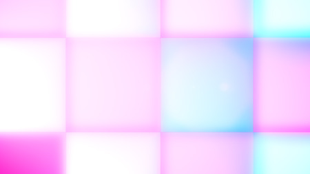 An astonishing 3d rendering of white, light blue and pale pink square led square buttons making a childish backdrop for some holiday. The kindhearted mood is coming up.