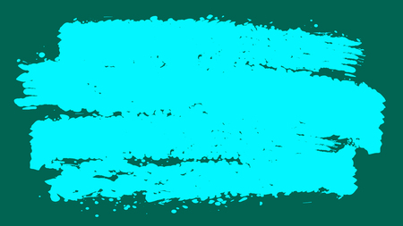 A celebratory 3d illustration of celeste brush strokes imposed horizontally in the bright teal background. They generate the spirit of childish creativity and inspiration.