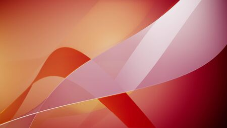 3d rendering of Abstract wave element for design. Stylized line art background. Colorful shiny wave with lines created using blend tool. Curved wavy line, smooth stripe.