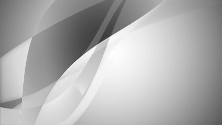 3d render of an abstract smoothy and wavy background in a soft grey color