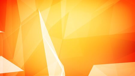 3d illustration of an orange triangles background.
