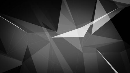 3d illustration of a dark grey triangles background.