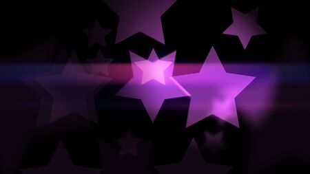 Amazing bokeh effect in star shaped on the dark background. Stars smooth Glowing and glittering. 2d rendering backdrop. Stock fotó