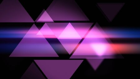 Pink Triangles smooth modern background. 2d illustration. Stockfoto