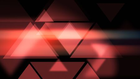 Glowy presentational Triangles smooth modern background. 2d illustration. Stockfoto