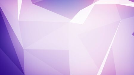 3d illustration of Background with triangles connected in violet colors.