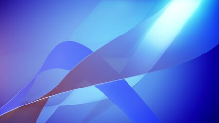 Blue colored 3d rendering of abstract wavy background