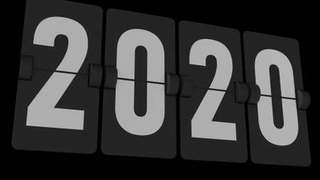 2020 is coming - new year flip countdown time remaining counter. Promo decoration.