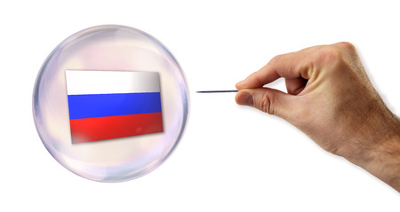 overvalued: Russian economic Bubble about to explode by a needle
