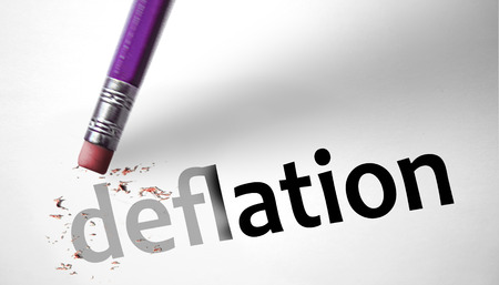 deflation: Eraser deleting the word Deflation