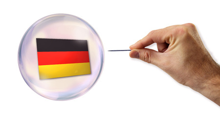 overvalued: The German economic bubble about to be exploited  Stock Photo