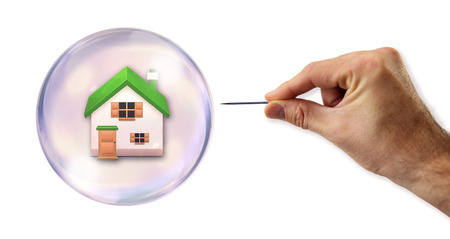 housing crisis: The housing bubble about to be exploited  Stock Photo