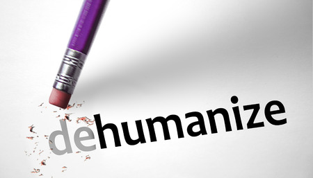 Eraser changing the word Dehumanize for Humanize  photo