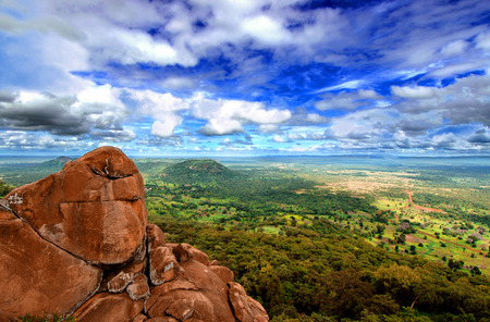 paisagem: Parque Nacional Niokolo Koba no Senegal