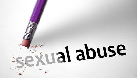sexuel: Eraser suppression de la notion abus sexuels Banque d'images