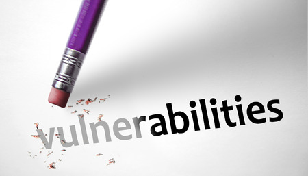 Eraser deleting the word Vulnerabilities  photo