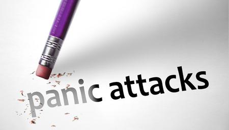 Eraser deleting the concept Panic Attacks  photo