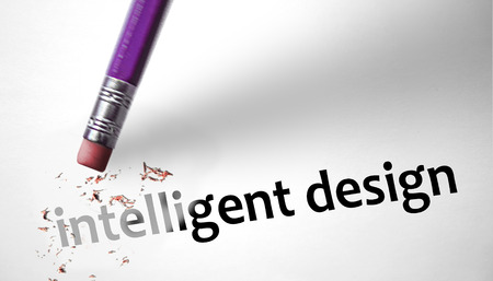 sceptic: Eraser deleting the word Intelligent Design