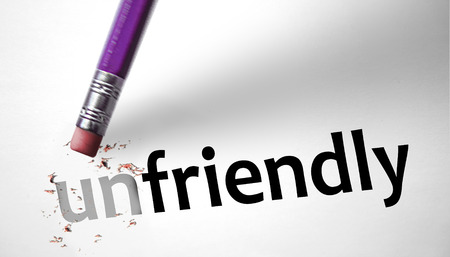 arrogant teen: Eraser changing the word Unfriendly for Friendly