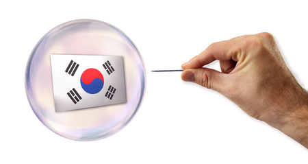Korean economic Bubble about to explode by a needle  photo