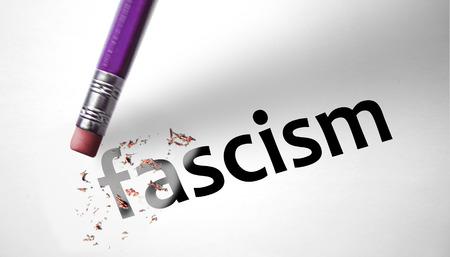 Eraser deleting the word Fascism  photo