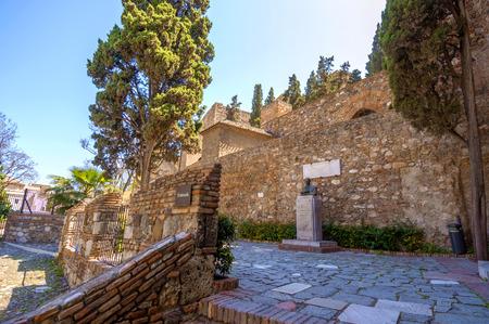 alcazaba: Interior of the Alcazaba of Malaga, Spain
