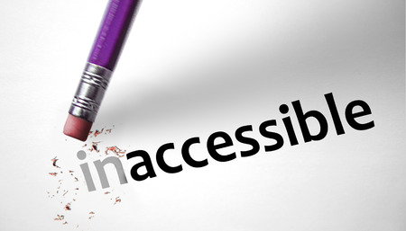 Eraser changing the word Inaccessible for Accessible