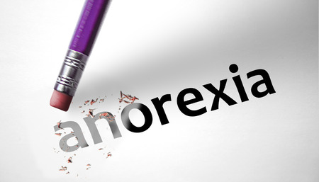 Eraser deleting the word Anorexia  photo