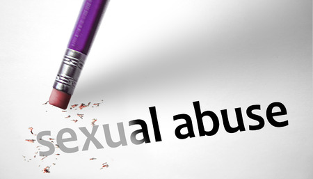sexual woman: Eraser deleting the concept Sexual Abuse