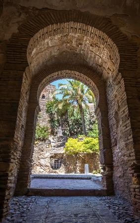walled: Interior of the Alcazaba of Malaga, Spain