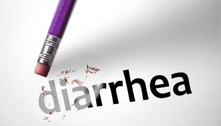 Eraser deleting the word Diarrhea  photo