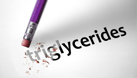 Eraser deleting the word Triglycerides  photo