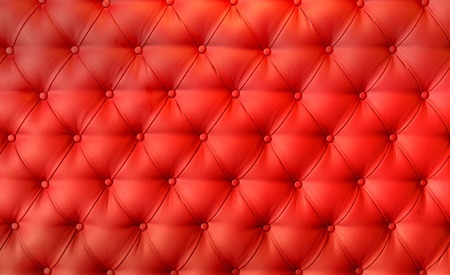 Luxury red leather cushion close-up background Stock Photo
