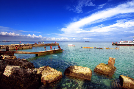 Goree 섬, 다카르, 세네갈, 아프리카의 해변