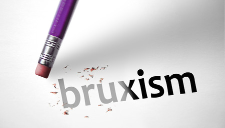 deleting: Eraser deleting the word Bruxism