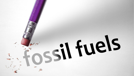 fossil fuels: Eraser deleting the concept Fossil Fuels