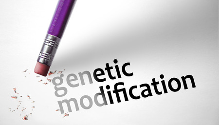genetic modification: Eraser deleting the concept genetic modification