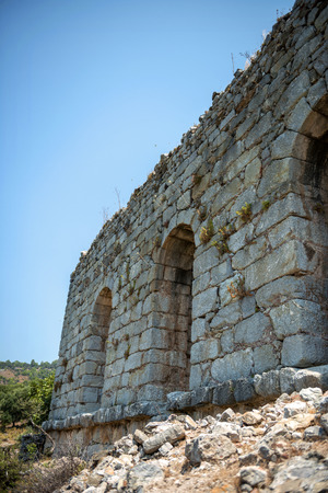 mugla: view of ruins in Kaunos ancient city (Turkey) Stock Photo