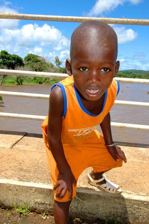 SENEGAL - SEPTEMBER 19: Little boy from Dindefelo looking at camera, on September 19, 2007 in Dindefelo, Casamance, Senegal