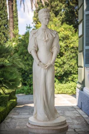 sissy: Statue of Sisi, Elisabeth of Bavaria, in Corfu, Greece