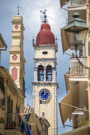 corfu: Street view of Corfu, Greece