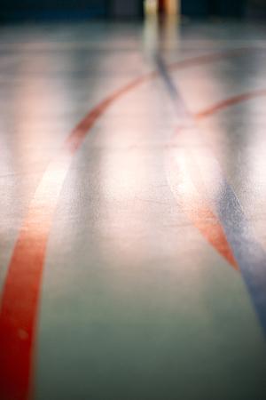 terrain de handball: Terrain de basket-Marc, le handball ou footbal. Texture de fond. Lignes Banque d'images