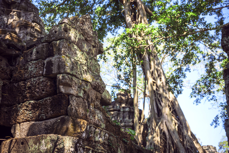 thom: Angkor Thom Temple view, Siem reap, Cambodia Stock Photo