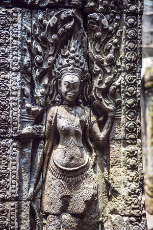 siem: Angkor Thom Temple view, Siem reap, Cambodia Stock Photo