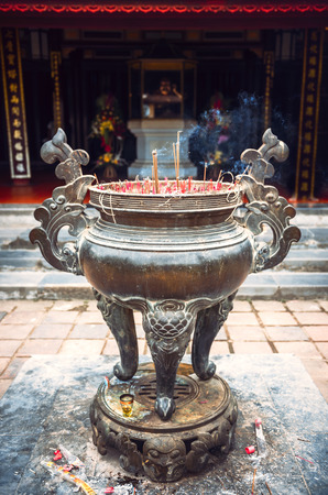 unesco: Thien Mu Pagoda. Unesco World Heritage Site. Hue. Vietnam Stock Photo