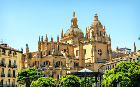 plateresque: Segovia Cathedral is a Roman Catholic religious church in Segovia, Spain, it is dedicated to the Virgin Mary