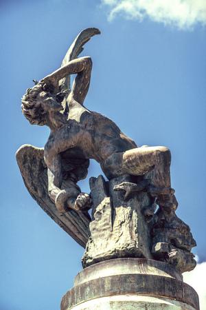 fallen angel: Spain, Madrid, Fallen Angel sculpture in Retiro Park
